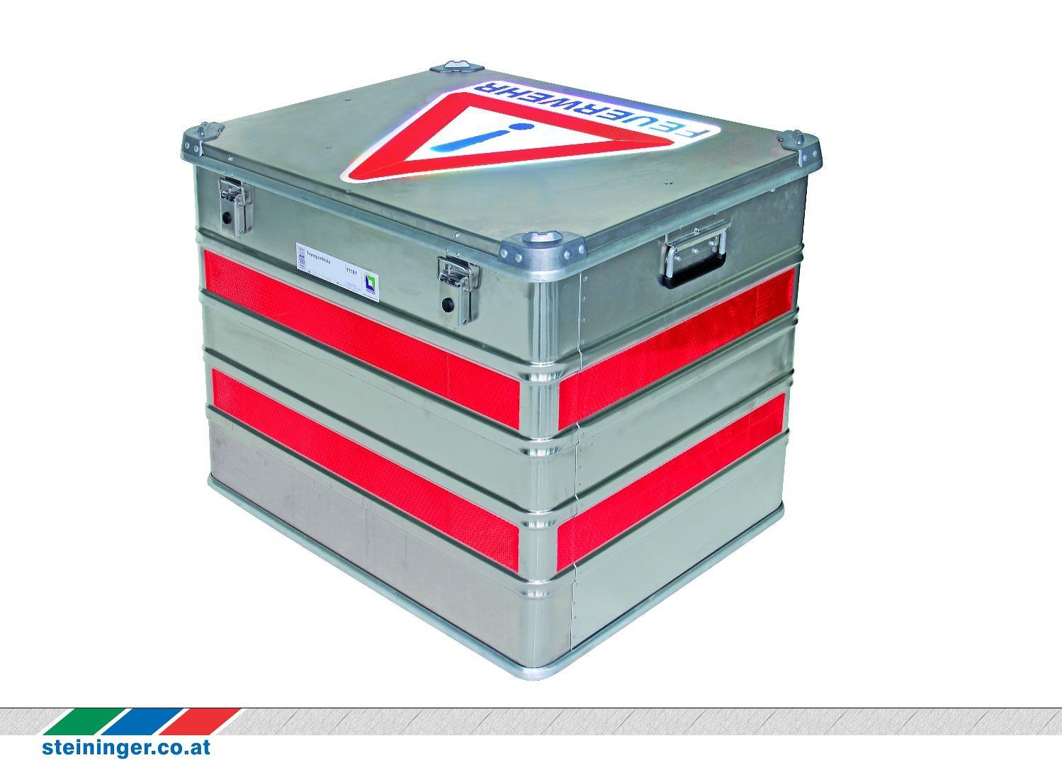 Rollcontainer Rot feuerwehrtechnik steininger markierungs set transportkasten groß