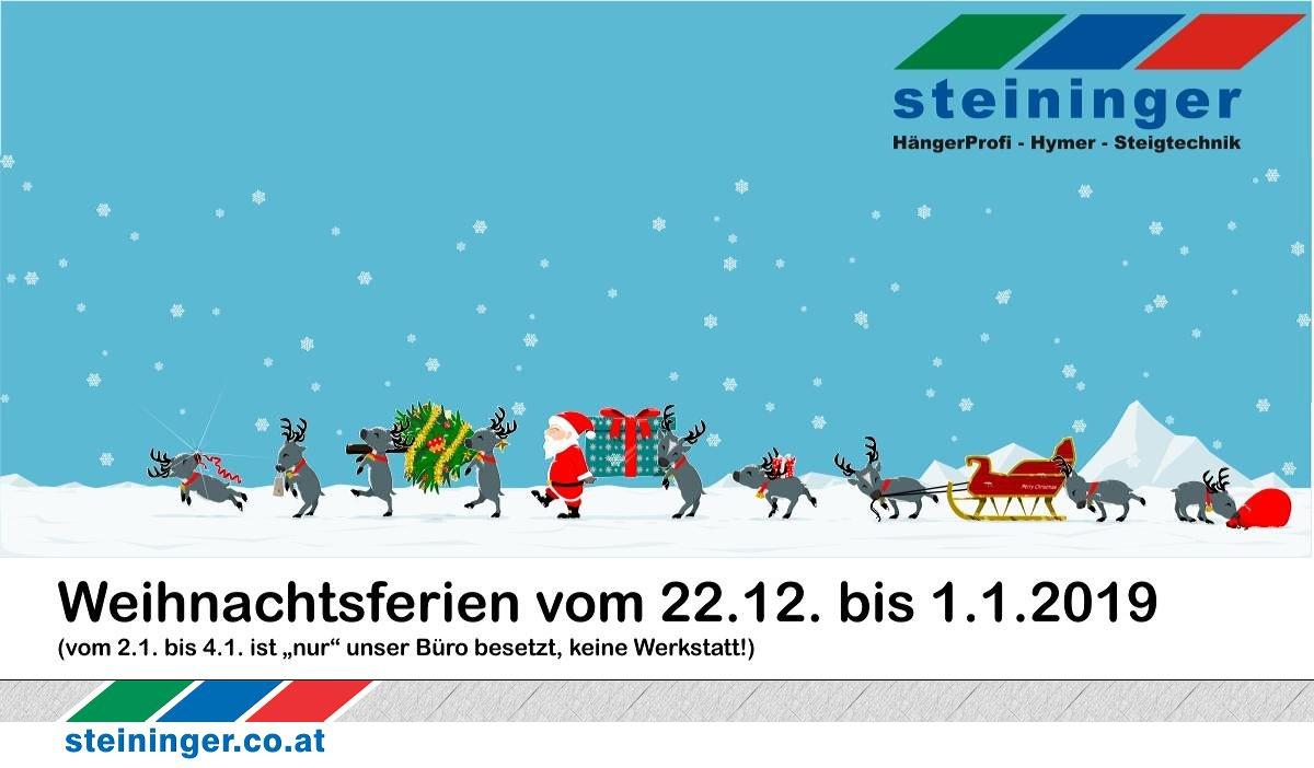Steininger Weihnachts Urlaub 2018